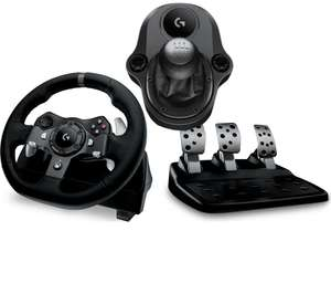 Logitech G920 steering wheel & shifter bundle £164.99 with code @ Currys