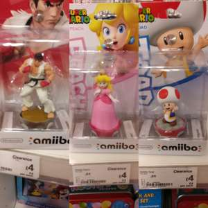 Various Amiibo (Inc. Peach, Toad, and Ryu)  £4 @ Asda