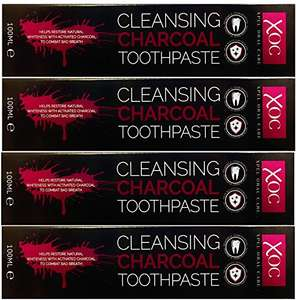 4x XOC charcoal toothpaste £8.95 delivered @ Amazon - Dispatched from and sold by Clearance-Direct