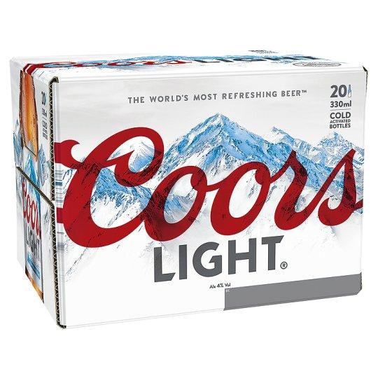 Coors Light 20x330ml Was £10 Now £9 @ Tesco
