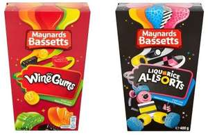 Maynards Bassetts Wine Gums and Liquorice Allsorts 400g Cartons reduced to £1 instore @ Asda