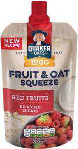 Quaker Oats Fruit & Oat Blueberry (200g) / Quaker Oats Fruit & Oat Red Fruits (200g) buy one packet for £1.37 or now you can buy 5 packs for £4.00 so only 80p a packet