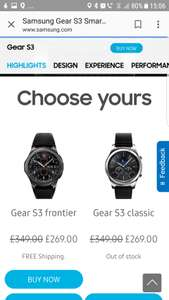 Gear S3 Frontier £269 @ Samsung UK