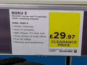 Roku 3 - £29.97 - PC World/Currys - instore ONLY