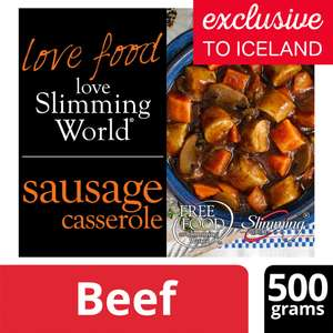 Slimming World Sausage Casserole (500g) was £3.00 NOW ONLY £1.50 @ Iceland