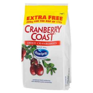 Ocean Spray Dried Cranberries (200g for the price of 170g) ONLY £1.00 @ Poundland