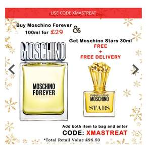 Moschino Forever Eau De Toilette 100ml Spray @BeautyBase for £29 + Free Moschino Stars 30ml + Free Delivery