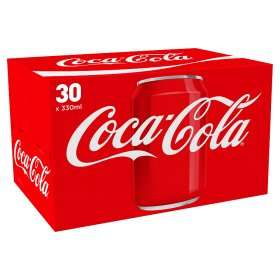 30 cans of coke ASDA £7.50 instore and online