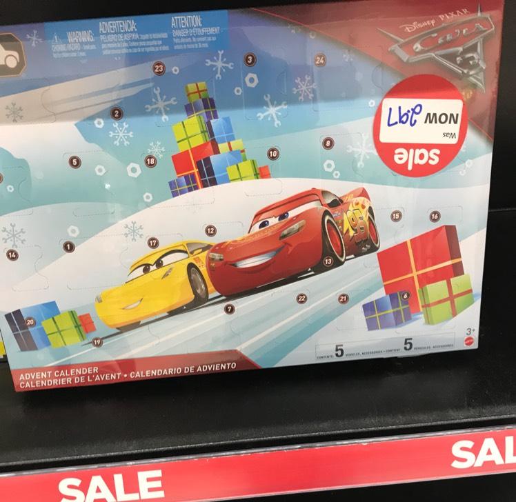Disney Cars Advent Calendar Reduced to £2.97 @ Asda INSTORE