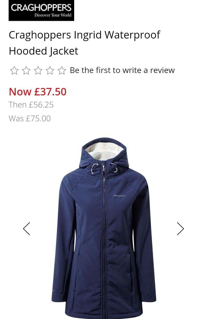 Ladies Craghoppers Ingrid Waterproof Jacket £37.50 at House of Fraser - Free c&c