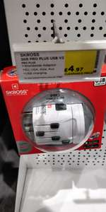 Skross Pro world adapter £4.97 @ currys - Instore