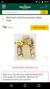Gold accessories value pack 75p Half price @ Morrisons