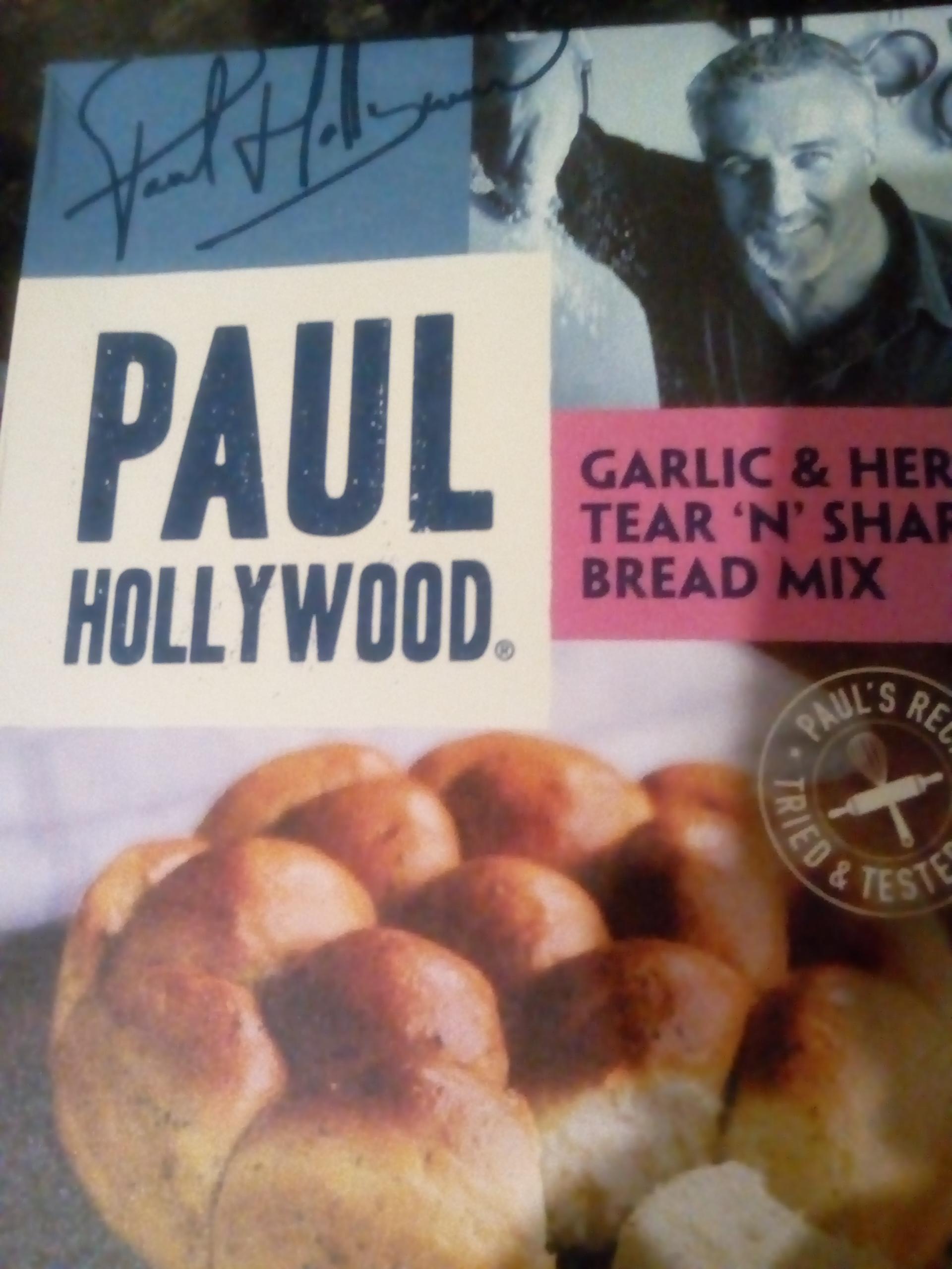 Paul Hollywood garlic and herb bread mix 50p at herons
