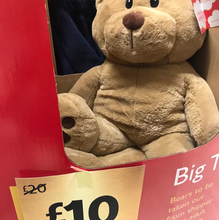Morrisons Half Price Owlen Jumbo bear £10