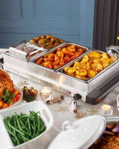Ambiano Buffet Server (2 large + 2 small trays) @ Aldi