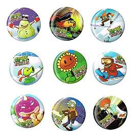 9 x Plants VS Zombies Pin Badges @ Game 49p + Free Delivery