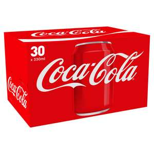 30 cans of coke for £7 @  Iceland