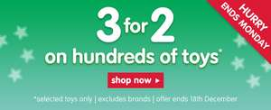 50% off selected toys at Early Learning Centre and 3 for 2 double deal