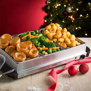 Daewoo 3 tray buffet server warmer for just £19.99 using code with free delivery/pickup from store at Robert Dyas
