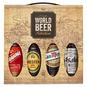 World Beer Selection, Christmas present 4 x beers, £3.99, Iceland