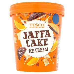 Tesco Jaffa Cake Ice Cream, Better Than Half Price, 85p, Tesco Metro, St Enoch, Glasgow In Store