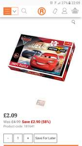 Disney Cars 3 100 Piece Puzzle £2.09 @ The Range