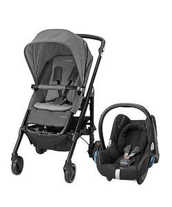 Maxi-Cosi Loola and CabrioFix Pushchair & Car Seat Travel System - Concrete Grey £217.50@ Mothercare