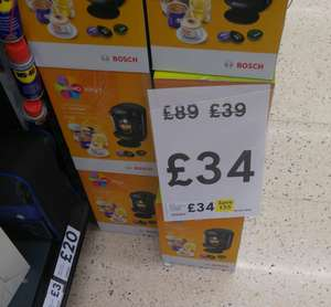 Tassimo By Bosch @£34 at tesco kington park newcastle instore,  also online now