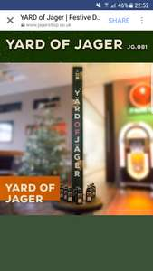 Yard of Jager £9.99 + £6.54 P&P @ Jager Shop