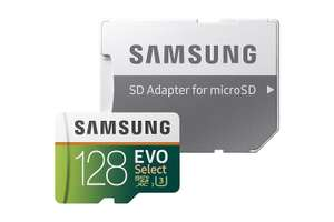 Samsung EVO Select 128gb Micro SD + Adaptor £38.39 @ Amazon US