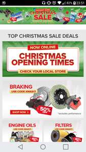 Euro car parts xmas sale - various discounts eg 40% Off Engine Oils / Filters - 50% Off Braking with code
