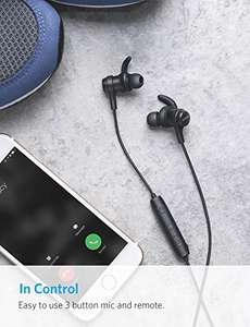 Anker SoundBuds Bluetooth 4.1 Sports Earphones with Water-Resistant Nano Coating, Running Workout Headset with Magnetic Connector and Remote £16.09 Prime / £19.08 @ (AnkerDirect and Fulfilled by Amazon)