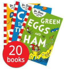 Dr. Seuss: Classic Collection - 20 Books in a slipcase - includes titles The Cat in the Hat - Green Eggs & Ham - The Lorax and more -  £16.49 delivered @ The Book People