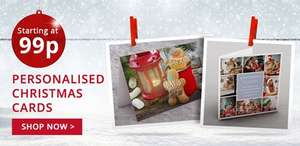 40 Christmas cards with different designs from 99p each to £5 @ The Card Factory (delivery from 55p per card)