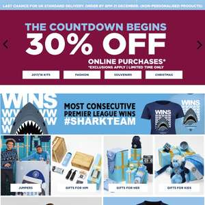 30% OFF ONLINE MAN CITY STORE!