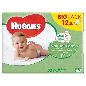 Huggies Natural Baby Wipe 12pk £6 at Asda