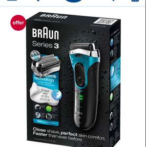 Braun Series 3 3080 Rechargeable Wet & Dry Electric Foil Shaver - £37.50 at Boots