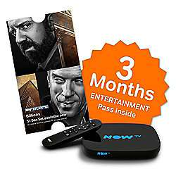 NOW TV Smart Box with Freeview HD + 3 Month Entertainment Pass £19.50 with code Free C&C @ Tesco Direct