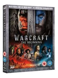 Warcraft The Beginning Movie Blu Ray 2D,3D & UV £5.48 Delivered (Using Code) @ Zoom