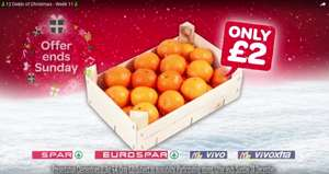 Spar/Eurospar/Vivo/Vivoxtra NI 12 deals of Christmas (Week 11) Presentation Box 2.3Kg Clementines £2