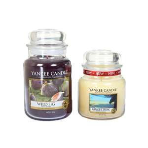 Yankee Candle Jar Set - Large Wild Fig & Medium Ginger Dusk £18.74 Delivered @ bargain crazy