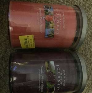 Yankee candle world journeys instore @ boundary mill. £11.89 each or 2 for £18