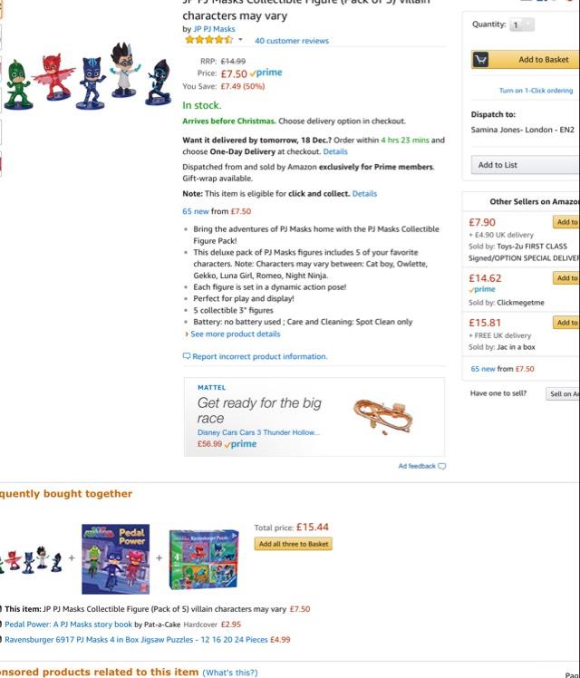 Pj masks figures - £7.50 delivered @ Amazon (Prime exclusive)