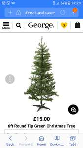 Asda 6ft Chrsitmas Tree - £5 instore reduced from £15