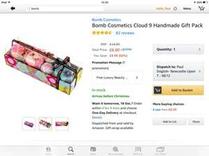 Bomb cosmetics cloud 9 was £14.99 now £6 for prime members / £10.75 non Prime @ Amazon