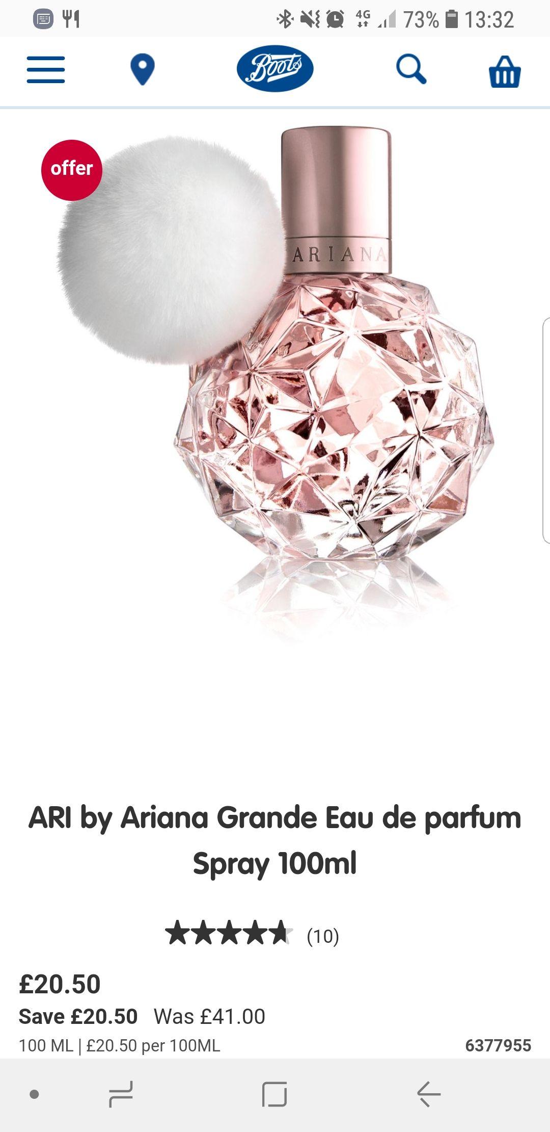 ARI - By Ariana Grande 100ml  Eau De Parfum @ Boots - £20.50
