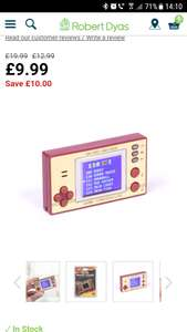 Retro pocket game - £9.99 @ Robert Dyas
