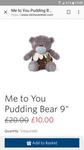 Me to you 9inch Xmas pudding bear or snowman use codeuse code 15DEC for 15%off extra