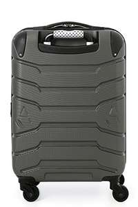 Aerolite SMART Suitcase with USB Phone Charger Port, ABS Hard Shell 4 Wheel Carry On Hand Cabin Luggage ,  (Charcoal) - £54.99 @ Sold by Luggage Travel Bags UK and Fulfilled by Amazon
