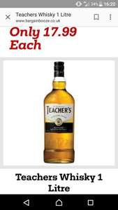 1 litre teachers whisky ( no longer stocked by the big 4 supermarkets) - £17.99 @ Bargain Booze